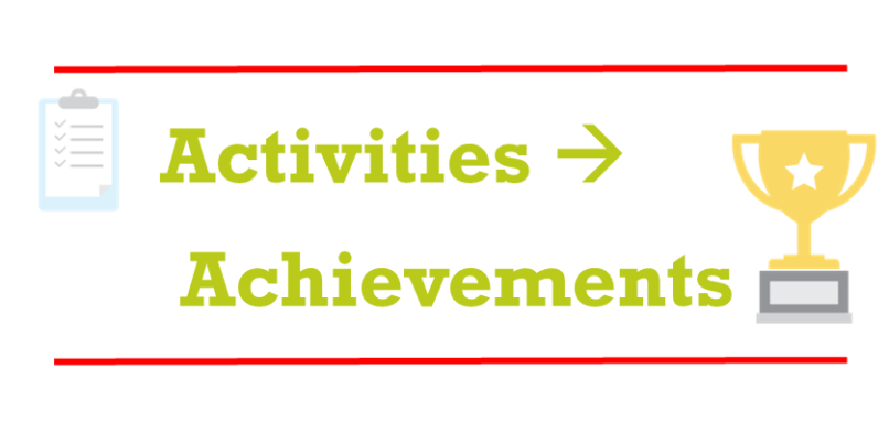 Activities to Achievements: leveling-up your resume