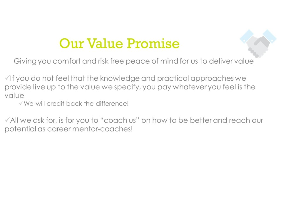 Why our value promise