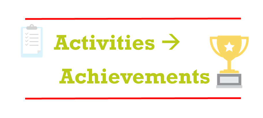 Activities to Achievements