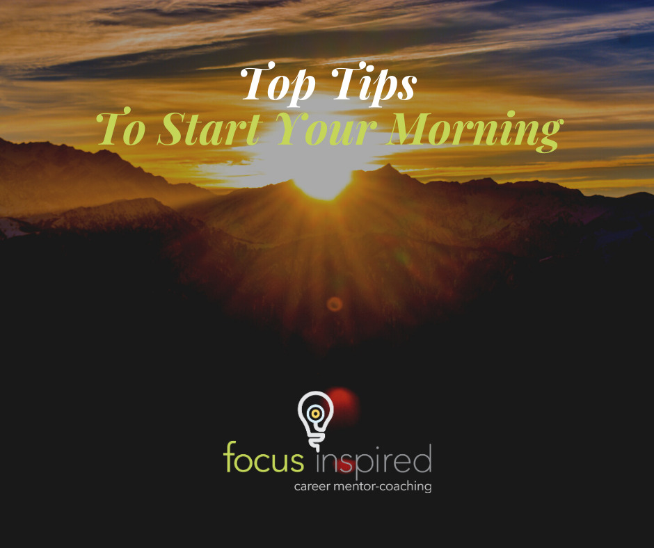 Title Card - Top Tips To Start Your Morning